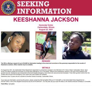 Reward Offered for Information Regarding the August Murder of Keeshanna Jackson