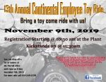 13th Annual Toys For Kids Ride set for Saturday at Continental and Roadhouse Harley-Davidson/RV