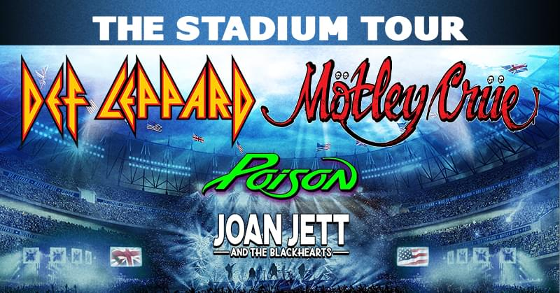POSTPONED – Def Leppard & Mötley Crüe with Poison and Joan Jett & The Blackhearts @ Busch Stadium