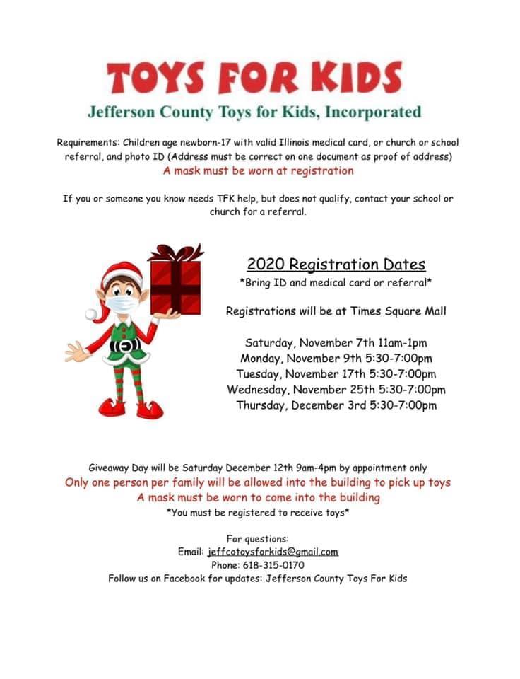 Toys For Kids Registration Dates