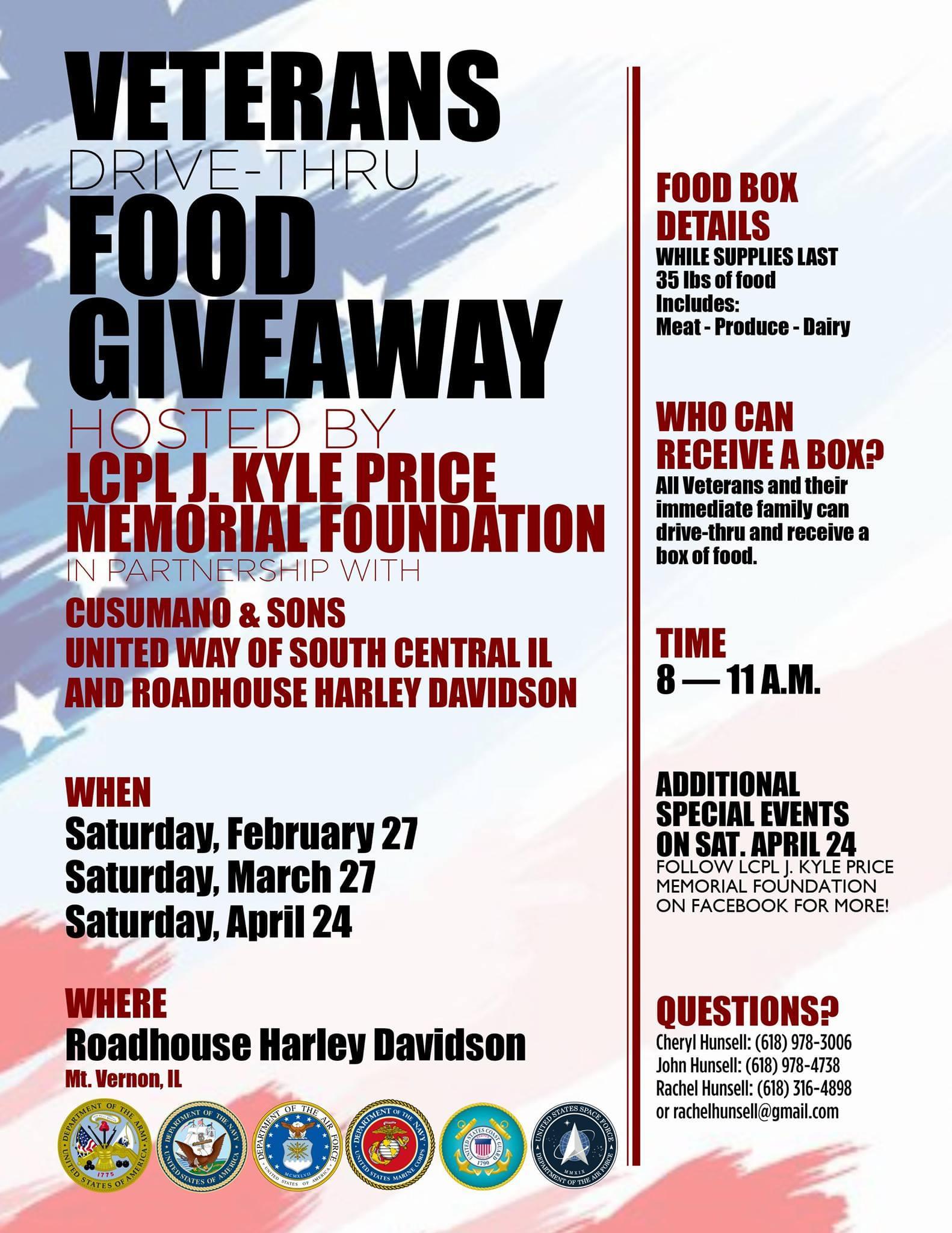 Veterans Food Giveaway