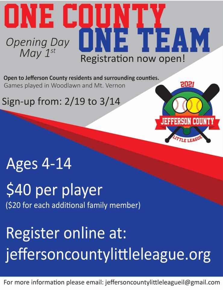 Jefferson County Little League Registration