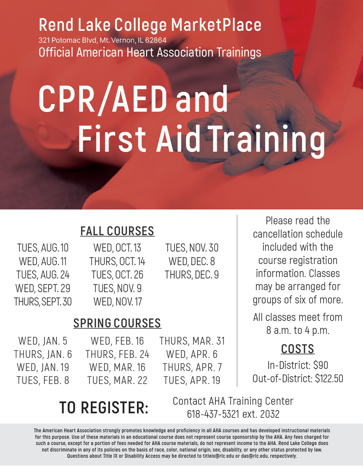 American Heart Association CPR/AED & First Aid Training