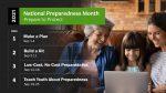 September is disaster preparedness month