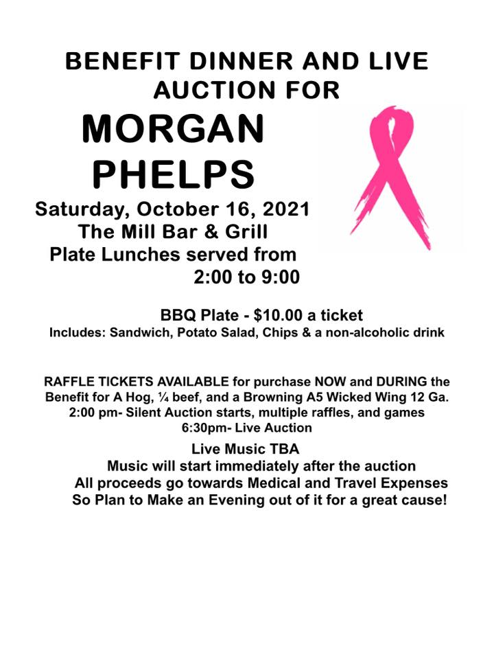 Benefit Dinner and Auction for Morgan Phelps