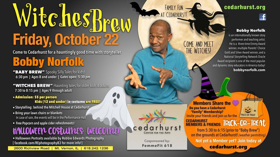 Witches Brew with Bobby Norfolk – Cedarhurst Center for the Arts
