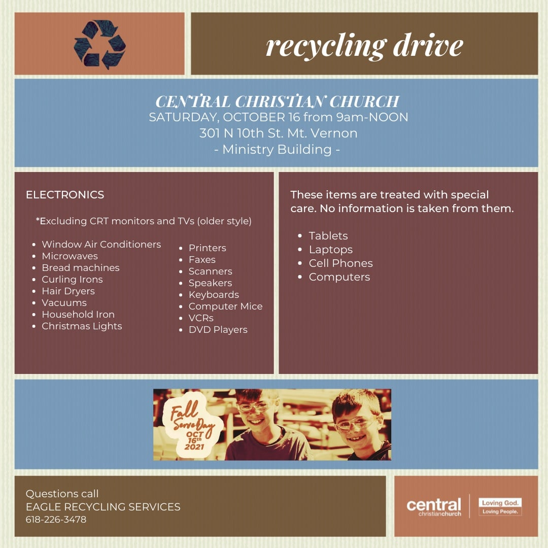 Recycling Drive at Central Christian Church