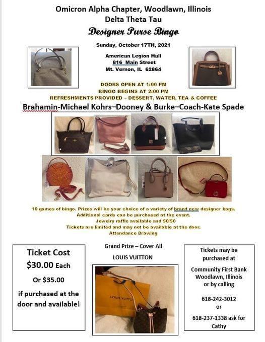 Woodlawn based Philanthropic Sorority to host Purse Bingo in Mt. Vernon this Sunday