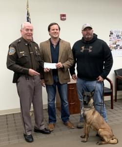 Williamson Co. State's Attorney Makes Donation to Sheriff's K9 Program