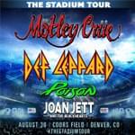 Mötley Crüe, Def Leppard, Poison, Joan Jett and the Blackhearts- Rescheduled